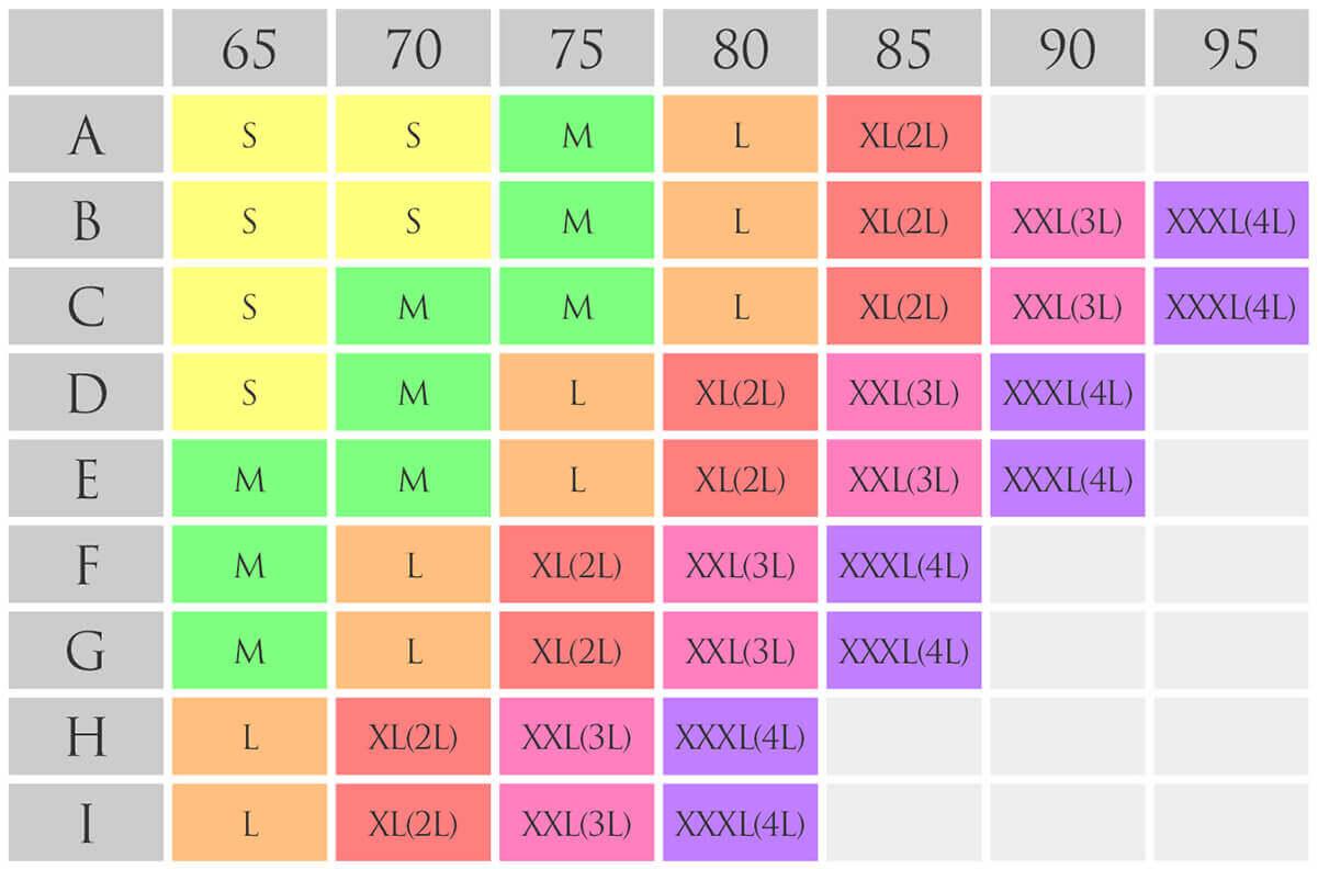 リフトアップマタニティブラ サイズ表